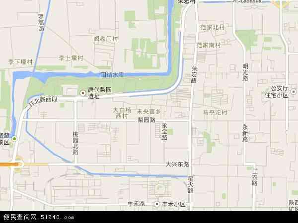 中国陕西省西安市未央区未央宫地图(地图卫星高中生健康教育图片图片