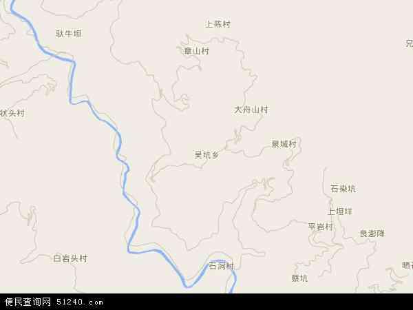 吴坑乡地图 - 吴坑乡电子地图