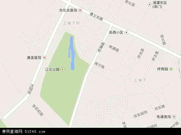 中国吉林省吉林市龙潭区湘潭地图(卫星地图)