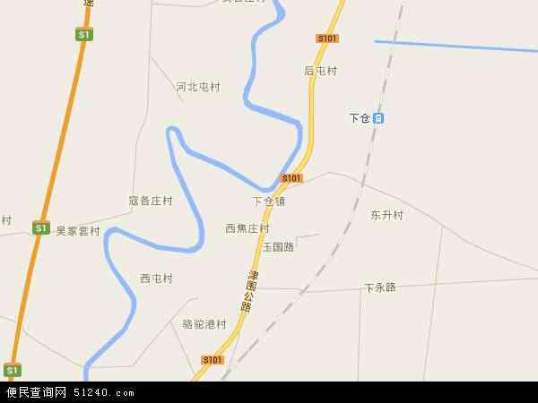 最新下仓镇地图,2016下仓镇地图高清版
