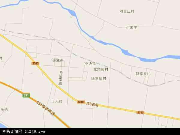 中国山东省泰安市新泰市小协镇地图(卫星地图)