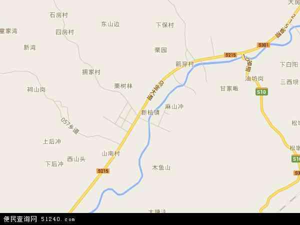 中国安徽省宣城市广德县新杭镇地图(卫星地图)