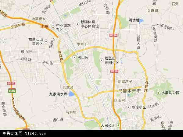 乌鲁木齐市地图_新市区地图 - 新市区卫星地图 - 新市区高清航拍地图