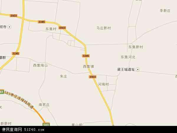 中国山东省枣庄市山亭区西集镇地图(卫星地图)
