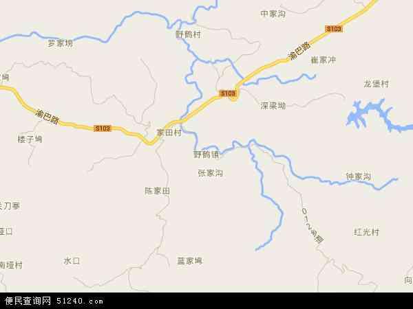 野鹤镇地图 - 野鹤镇卫星地图