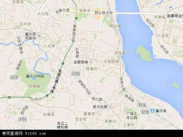 中国重庆市九龙坡区杨家坪地图(卫星地图)