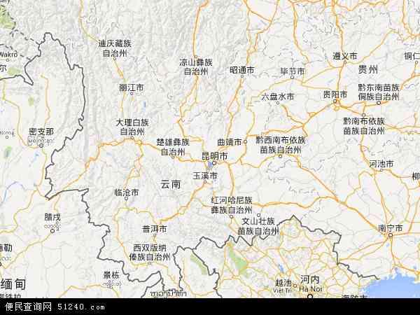 云南省地图 - 云南省电子地图