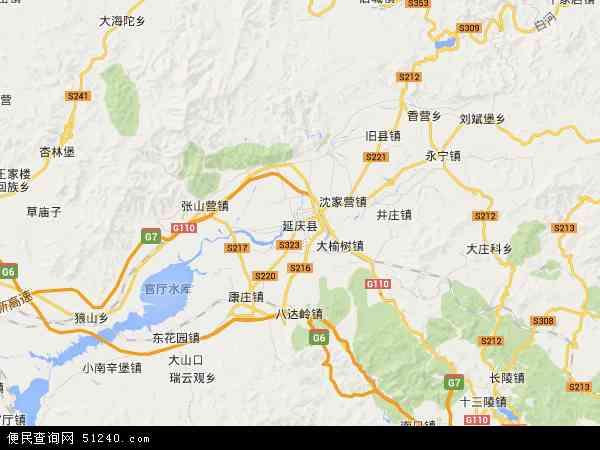 延庆县地图 - 延庆县卫星地图