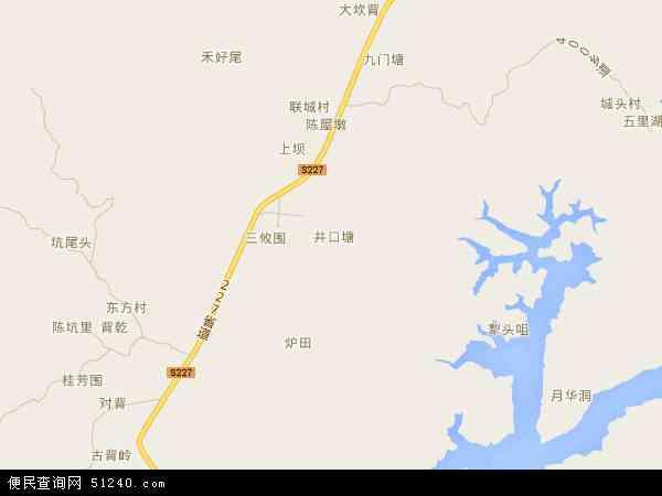 中国广东省河源市龙川县岩镇镇地图(卫星地图)