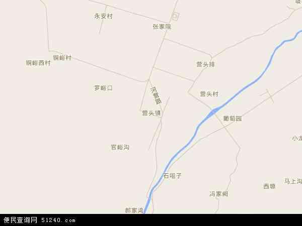 中国陕西省宝鸡市眉县营头镇地图(卫星地图)