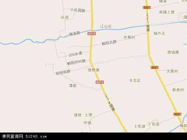 银桥镇地图 - 银桥镇卫星地图 - 银桥镇高清航拍地图