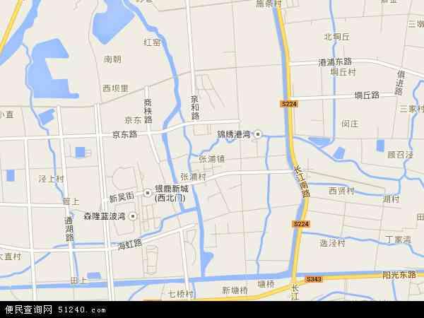 张浦镇地图 - 张浦镇卫星地图