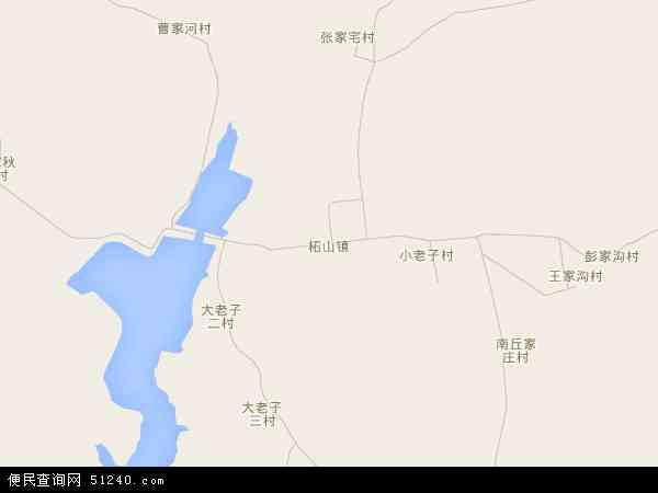 中国山东省潍坊市安丘市柘山镇地图(卫星地图)