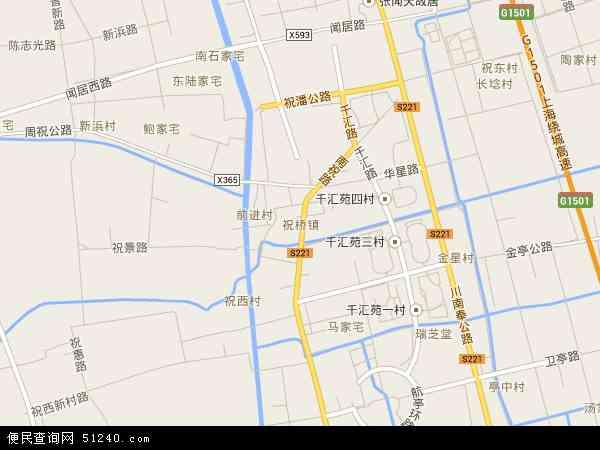 祝桥镇地图 - 祝桥镇电子地图 - 祝桥镇高清地图 - 2017年祝桥镇地图