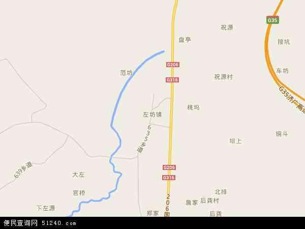 中国江西省抚州市金溪县左坊镇地图(卫星地图)