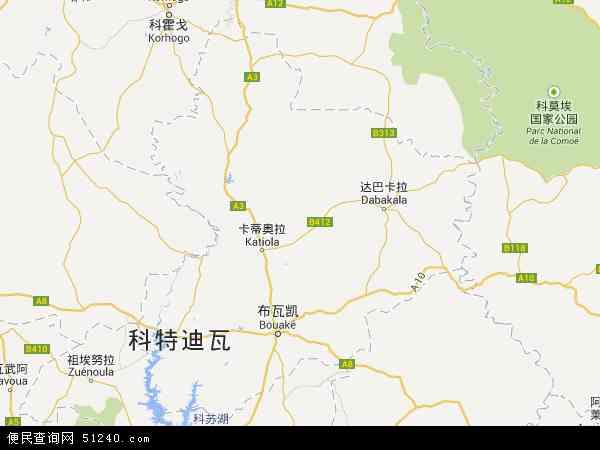 邦达马河谷地图 邦达马河谷卫星地图 邦达马河谷高清航拍地图 邦达马河谷高清卫星地图 邦达马河谷2017年卫星地图 科特迪瓦邦达马河谷地图