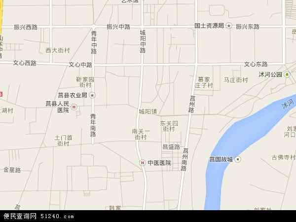 2015城阳卫星地图,城阳北斗卫星地图2016