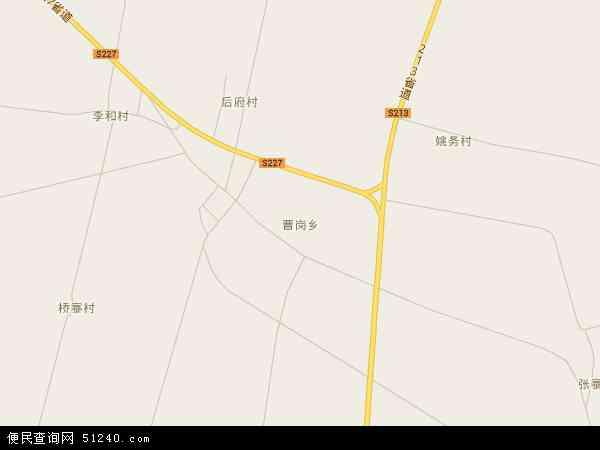 中国河南省新乡市封丘县曹岗乡地图(卫星地图)