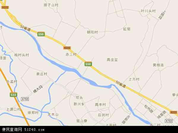 中国浙江省丽水市松阳县赤寿乡地图(卫星地图)