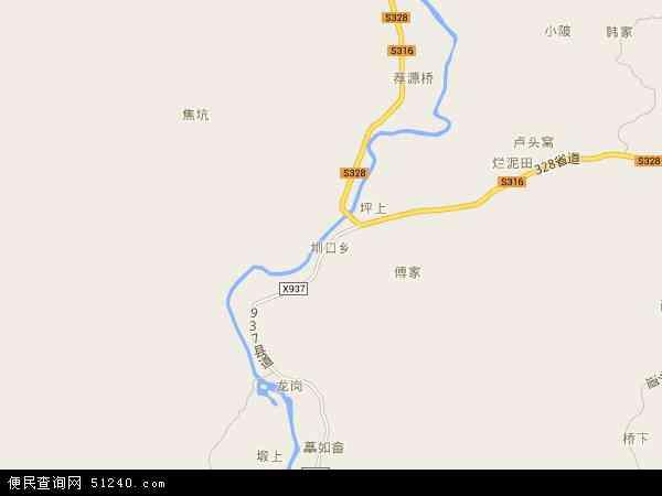 中国江西省抚州市宜黄县圳口乡地图(卫星地图)