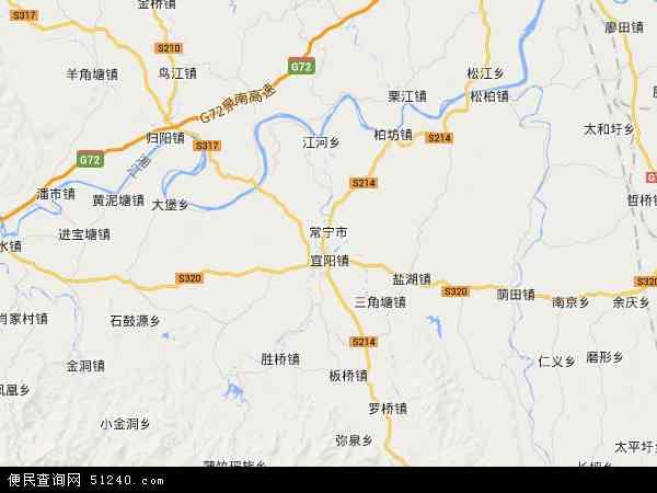 常宁市地图 - 常宁市卫星地图