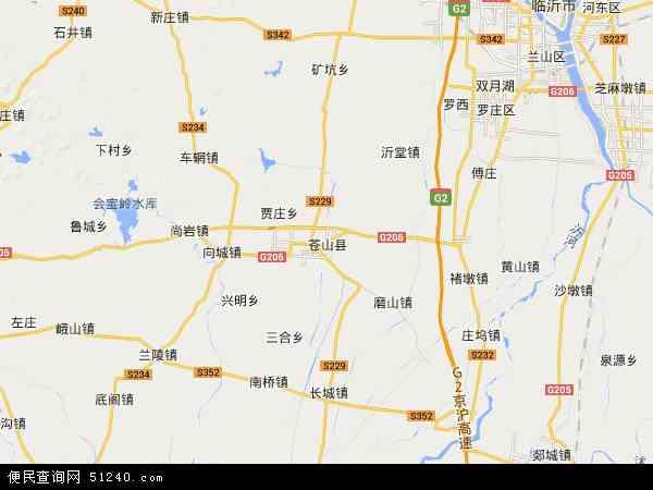 中国山东省临沂市苍山县地图(卫星地图)