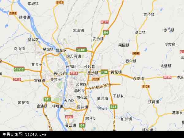 最新长沙县地图,2016长沙县地图高清版