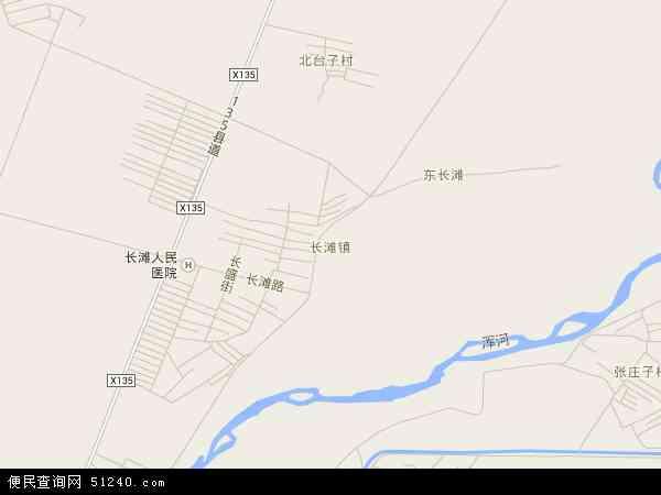 中国辽宁省沈阳市辽中县长滩镇地图(卫星地图)
