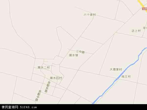 中国山东省烟台市蓬莱市潮水镇地图(卫星地图)