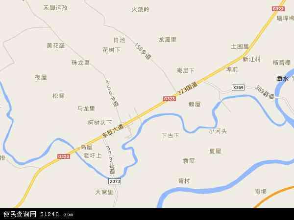 池江: 池江镇高清航拍地图