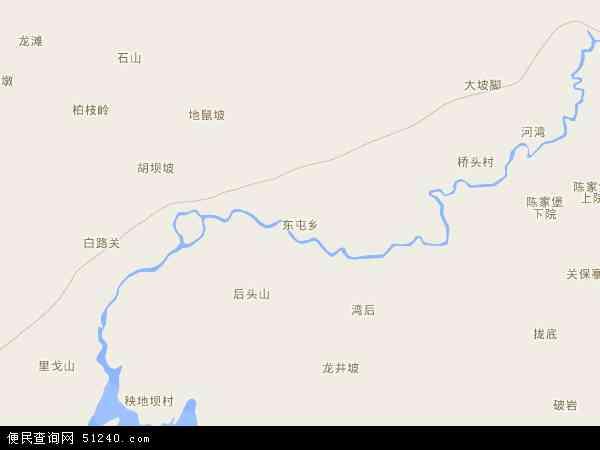 中国贵州省安顺市西秀区东屯乡地图(卫星地图)