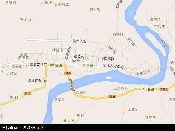 富世镇地图 - 富世镇电子地图