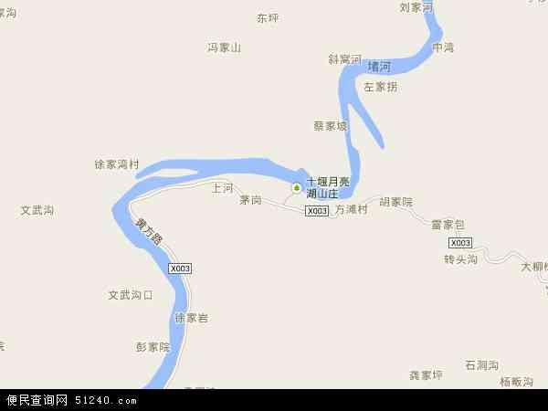 中国湖北省十堰市张湾区方滩乡地图(卫星地图)