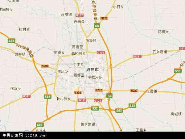 中国河南省许昌市禹州市方岗镇地图(卫星地图)