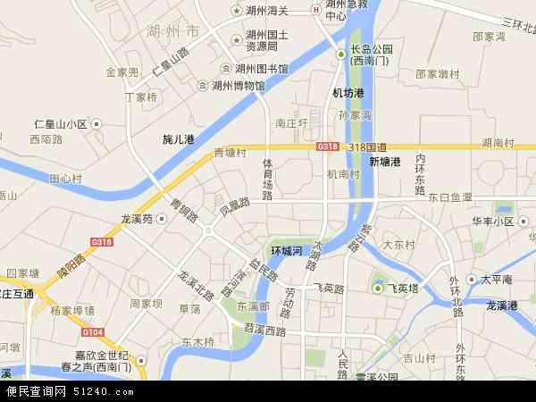 中国浙江省湖州市吴兴区凤凰地图(卫星地图)