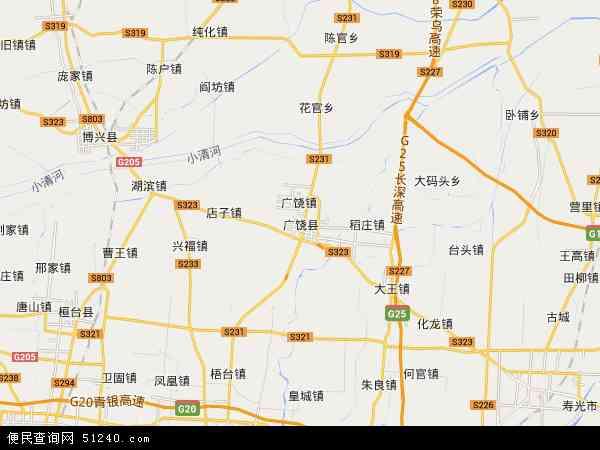 中国山东省东营市广饶县地图(卫星地图)