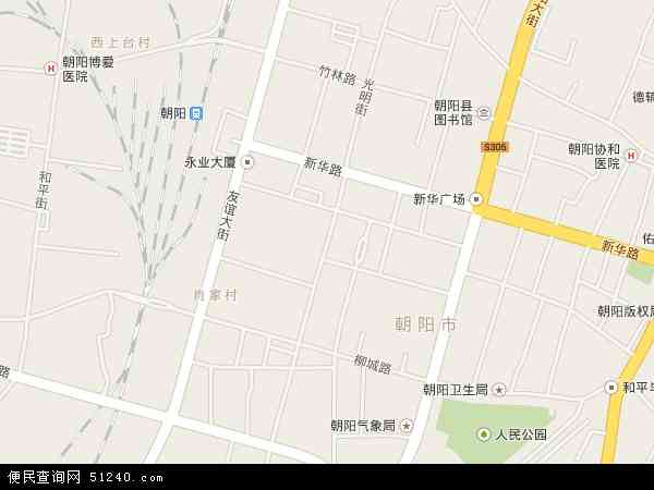 中国辽宁省朝阳市双塔区光明地图(卫星地图)