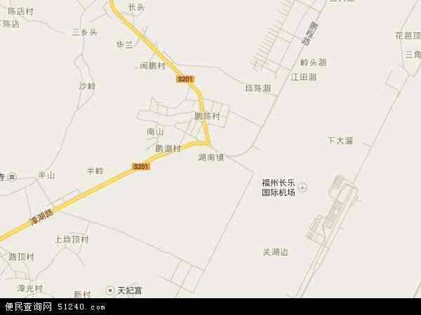 中国福建省福州市长乐市湖南镇地图(卫星地图)图片