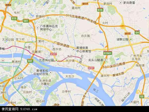 中国广东省广州市黄埔区地图(卫星地图)