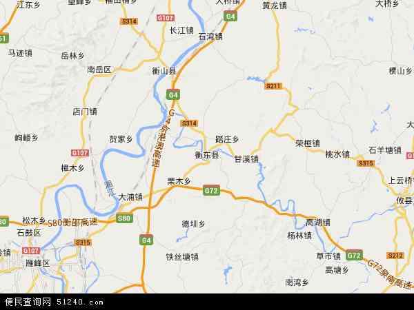 衡东县高清卫星地图 衡东县2017年卫星地图 中国湖南省衡阳市衡东