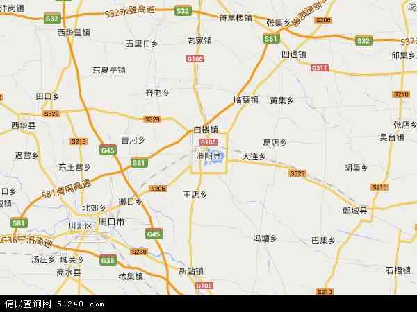 淮阳县地图 - 淮阳县卫星地图