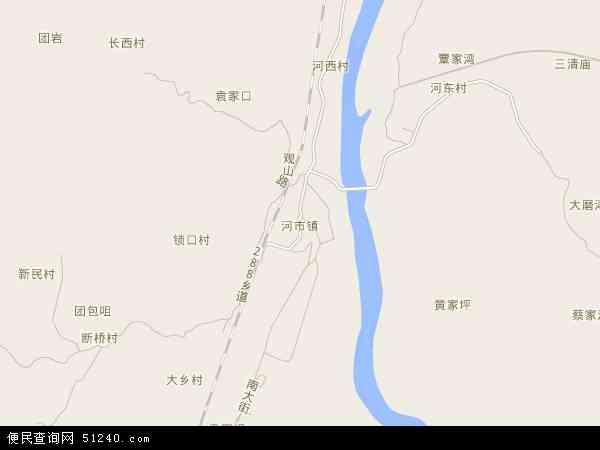河市镇地图 - 河市镇电子地图 - 河市镇高清地图 - 2017年河市镇地图