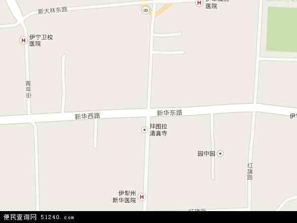 新疆维吾尔自治区伊犁哈萨克自治州伊宁市解放路地图