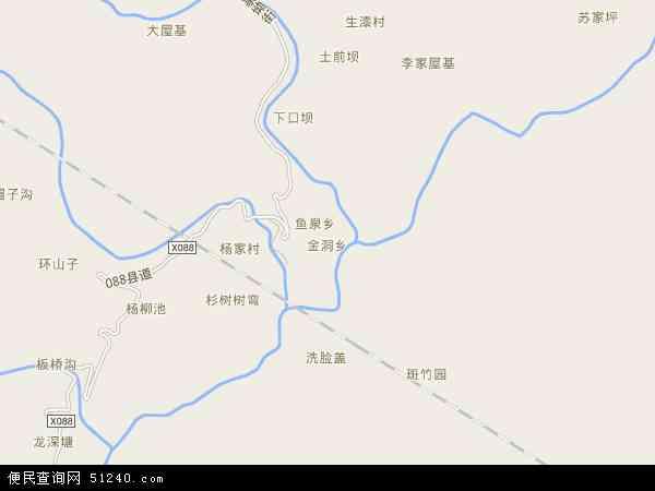 中国重庆市黔江区金洞乡地图(卫星地图)