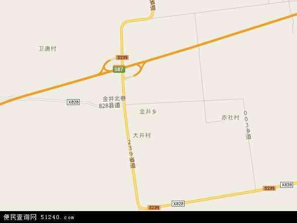 中国山西省运城市盐湖区金井乡地图(卫星地图)