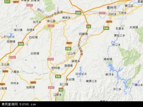 江山市地图 - 江山市卫星地图