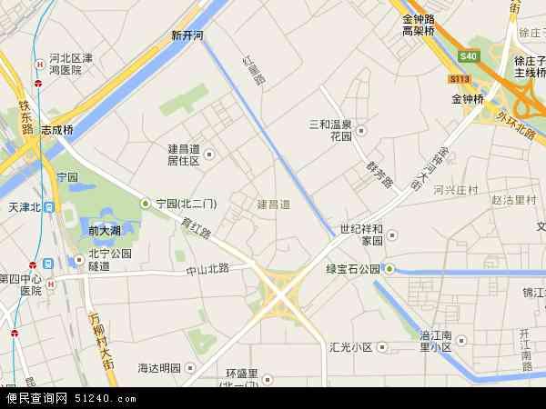 中国天津市河北区建昌道地图(卫星地图)