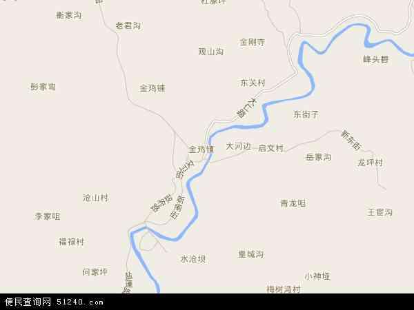 金鸡镇地图 - 金鸡镇电子地图