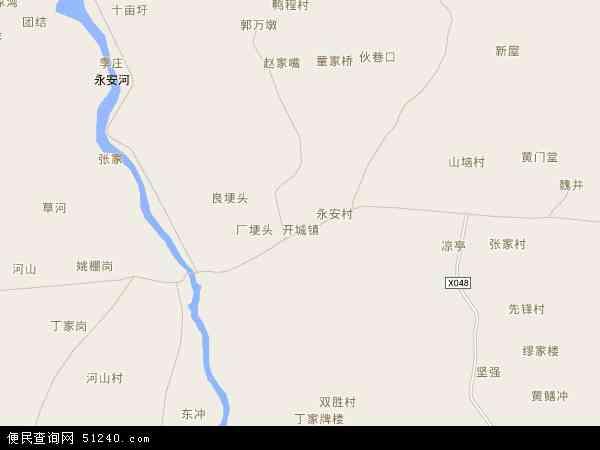 中国安徽省芜湖市无为县开城镇地图(卫星地图)