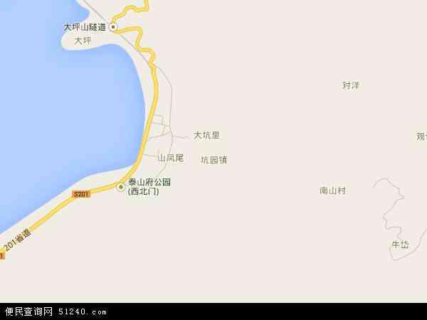 中国福建省福州市连江县坑园镇地图(卫星地图)